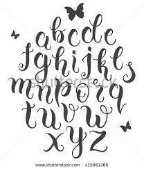Calligraphy Alphabet Beautiful Lettering Abcs Lyrics