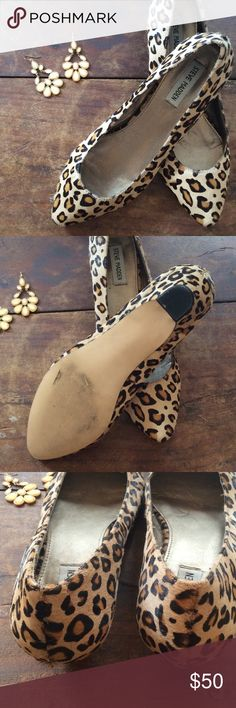 Steve Madden pony hair kitten heels Super cute kitten heels with leopard print. Great day to night show that looks great with skinnies or a dress! Worn only a couple times in great condition. Size 9.5 Steve Madden Shoes Heels
