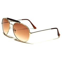 4b395dba81 Air Force Mens Womens Metal Frame Aviator Glasses Gold with Amber Gradient  Lens Kids Sunglasses