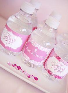 think pink water bottles