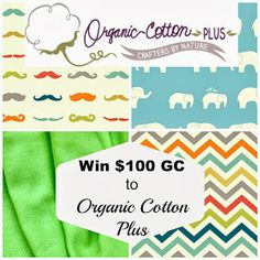 Whimsy Couture Sewing Blog: Giveaway - $100 Gift Certificate to Organic Cotton Plus