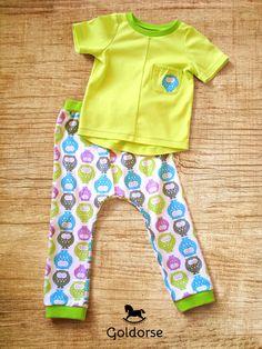 Pajamas Tiny Sleeping Owls #kids #Goldorse #pajamas #owls #handmade #cute #cotton