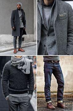 16. 50 #nuances de gris - Style #urbain s'accroche 39 sexy et chic masculin... → #Fashion