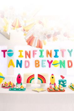 Love this bright Toy Story Party Ideas from I am predicting 🔮with The June release it will be trending. Toy Story Birthday, Diy Birthday, First Birthday Parties, Birthday Party Decorations, First Birthdays, Unicorn Birthday, Kids Birthday Themes, 2 Year Old Birthday Party, Boy First Birthday