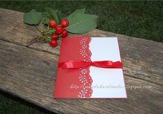 Cherries and Handmade Invitation by magdahandmade.blogspot.com Handmade Invitations, Wedding Invitations, Cherries, Invitation Cards, Gift Wrapping, Paper, Gifts, Maraschino Cherries, Gift Wrapping Paper