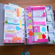 Sorting out forty blog . Movable sticky labels with tasks on so that they can be moved to the next week if the task isn't completed .  Filofax retro bloom personal decoration .
