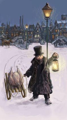 Season's Greetings..Could this be the turkey for Bob Cratchett? Mickey Christmas, Christmas Books, Christmas Past, Christmas Themes, Xmas, Christmas Classics, Christmas Doodles, Dickens Christmas Carol, Victorian Christmas