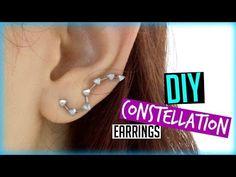 DIY Constellation Earrings | ItzaMeylin - YouTube