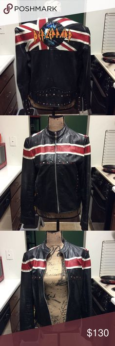 Def leppard  Leather Motorcycle  Jacket! Def leppard leather motorcycle jacket! Wilsons Leather Jackets & Coats