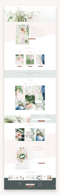 Olivia – Feminine Divi Child Theme Olivia is modern, slick and eye catching WordPress theme designed for creative photographers, freelancers and other creative professionals that want a stylish yet business-like theme to house their portfolio, blog, and online store. #WordPressTheme #Photography #Divi #DiviChildTheme #FeminineWordPress  #Template #Wedding