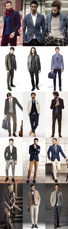Men's Unstructured Blazer Lookbook