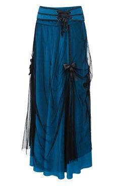 Teal, teal, teal! Love the black overlay, so rich! The Violet Vixen - Cloud Whisper Teal Blue Skirt, $108.00 (http://thevioletvixen.com/clothing/cloud-whisper-teal-blue-skirt/)