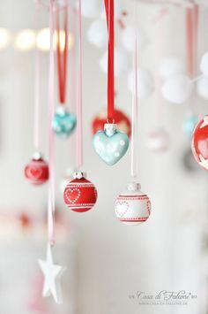 Weihnachtsdeko in rosa, rot, mint und weiss I Adventsdeko I ...