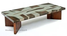 Industrial Zinc Coffee Table Available Any Size Needed by Woodland Creek Furniture