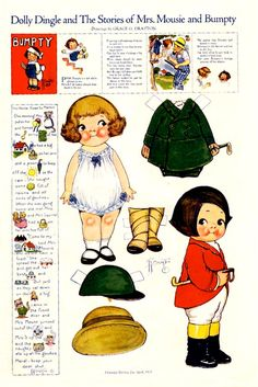 Dolly dingle and the Stories of Mrs. Mouse and Bumpty by Grace G. Drayton Bonecas de Papel: Dolly Dingle Paper Dolls