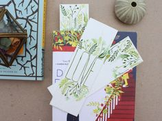 Love Bookmarks: Set of 3 Hand Painted Watercolor by LaneandLucia