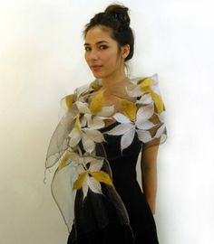 Brand New: Gorgeous Handfelted Shawls
