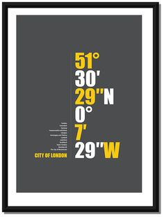 Personalised City Coordinates Canvas by I Love Design. Canvas Poster, Poster Prints, Diamond Lake, London Dreams, Vintage London, Graphic Design Print, London Photos, Love Design, London City