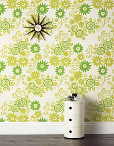 {Daisies - Green Wallpaper} by Emily Isabella for Hygge & West