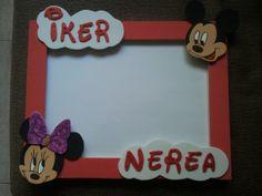 Marco Personalizado Mickey y Minnie