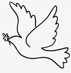 printable for kids free - visit my website for More - kids coloring pages free printable, printable kindergarten worksheets, free printables for kids education, craft for toddlers easy, coloring pages for kids free printable learning Dove Drawing, Wool Applique Patterns, Xmas Cross Stitch, Peace Dove, Church Banners, Quilling Patterns, Scroll Saw Patterns, Bible Crafts, Bird Drawings