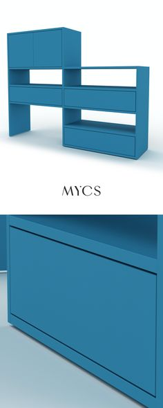 Our shelves are characterised by simple, minimalist design and a timeless look. The high-quality lacquers in various colours provide that special touch - try it out or treat yourself to an individual colour consultation. Our interior designers will be happy to help you. Or get inspired by our shelves without rules and our tips for the perfect bookshelf. #mycs # #furnituredesign #mymycs #designedbyyou #furniture #stayhome #GRYDshelf #interiordesign  #interior #interiorinspiration #regal Pantone Navy, Color Trends, Minimalist Design, Sideboard, Bunt, Interior Inspiration, Bookshelves, Furniture Design, Designers