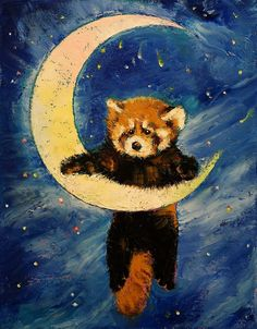 Red Panda Stars by Michael Creese