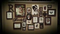 picture frames on the wall ideas - Google zoeken