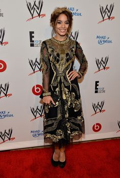 Actress Vanessa Hudgens Attends WWE & E! Entertainment's 'SuperStars For Hope'