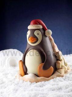 Stampo per creare un pinguino di cioccolato. www.decosil.it - Molds for Chocolate Penguin www.decosil.eu - Moule pour Pingouin Chocolat www.decosil.fr