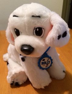 "10"" 101 Dalmations ROLLY PUPPY DOG Disney Mattel 1991 Plush Stuffed Animal 3131 #Disney"
