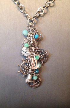 Chunky nautical charm necklace on Etsy, $25.00