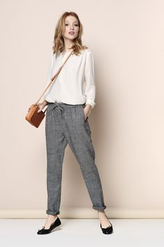pantalon Paudy carreaux 100% laine - pantalon - Des Petits Hauts