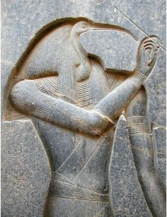 "Thoth (Tehuty, Djehuty, Tahuti, Tehuti, Zehuti, Techu, Tetu) was one of the earlier Egyptian gods. The moon and the sun were initially thought of as the left and right eyes of Horus. According to legend, Horus' left eye (the moon) was injured in a fight with Set and was restored by Thoth (""the eye of Horus""). However, as time progressed the moon came to be associated with Thoth, possibly because the crescent moon resembled the beak of an Ibis. 