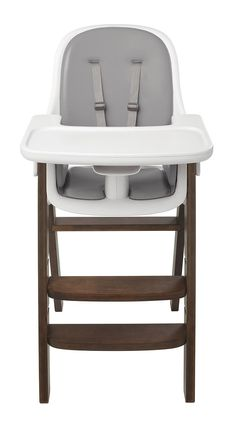 The OXO Tot Sprout Chair balances baby's comfort and grown-ups' design sensibility. Sprout is an extended use Chair that grows with your child and her developmental stages, from six months to five years. Dining Table Height, Used Chairs, Baby Comforter, Grey Chair, Seat Pads, Baby Needs, Foam Cushions, Wood Construction, Foot Rest