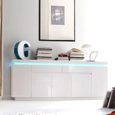 Odessa large sideboard 2 drawer 5 door gloss white with led - 20195 modern, contemporary living room furniture set clearance sale. Dining Room Sideboard, Small Sideboard, White Sideboard, Modern Sideboard, Sideboard Cabinet, Living Room Furniture Sale, Contemporary Living Room Furniture, Led Furniture, Furniture Catalog