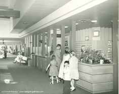 Disneyland Hotel check-in counter during the 1950s