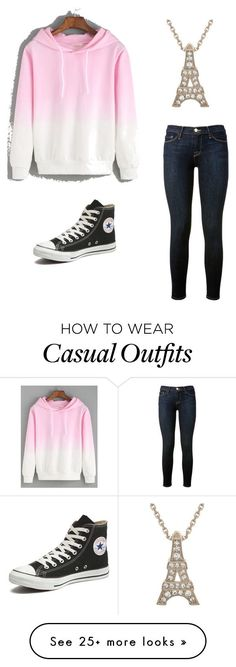 """""""Casual"""" by lissliz on Polyvore featuring Frame Denim and Converse"""