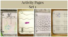 In The Hoop Doodle-It Activity Page Set 1 by SevensEmporium