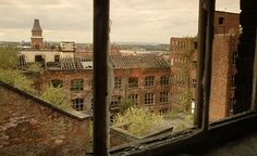 Decaying mill in Ancoat area of Manchester. Photograph from 2003 where one of the notorious gangs hailed from. Industrial Architecture, Salford, Peaky Blinders, Derbyshire, Abandoned Places, Old Town, Art Museum, Wales, Manchester