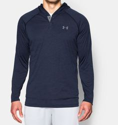 Men's UA Tech™ Popover Hoodie, Midnight Navy, Front, Midnight Navy, Click to view full size