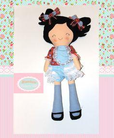 Cloth baby doll Handmade Dolls Fabric Dolls Soft by MaminasDolls