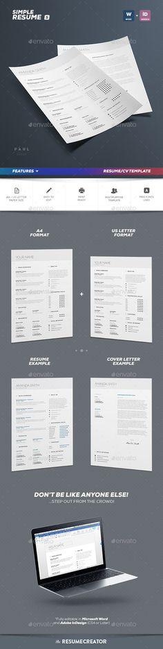 Professional Creative Resume Resume/CV Pinterest Canada, Adobe