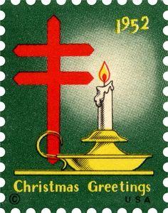 50's christmas images | 1952 Christmas Seal® | 50's-60,s Polish Christmas, Merry Christmas To All, Retro Christmas, Xmas, Christmas Things, Vintage Christmas Images, Christmas Pictures, Vintage Images, Old Stamps