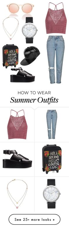"""My First Polyvore Outfit"" by yeliz-erkoc on Polyvore featuring Topshop, Glamorous, Alexander Wang, Michael Kors, Elwood, Natural Life and Boohoo"