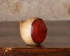 Small Wooden Robin Carving Hand Carved From Padauk by Perry
