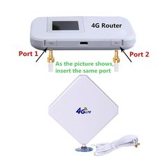 دیجیک | انتن رومیزی 35db تقویت سیگنال 4G  lte دارای کانکتور TS-9 و TS-5 و CRC9 و SMA