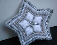 Star ornament plastic canvas