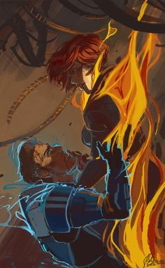 Make is Garrus, and then we have the truth. then again they would both be on fire...