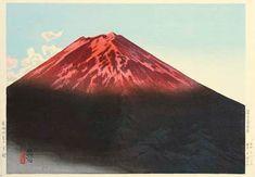 Hanga galerie. . . Torii galerie: mt Fuji im Sonnenuntergang-Glühen durch Ito Shinsui